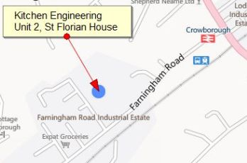 Location of Kitchen Engineering Ltd